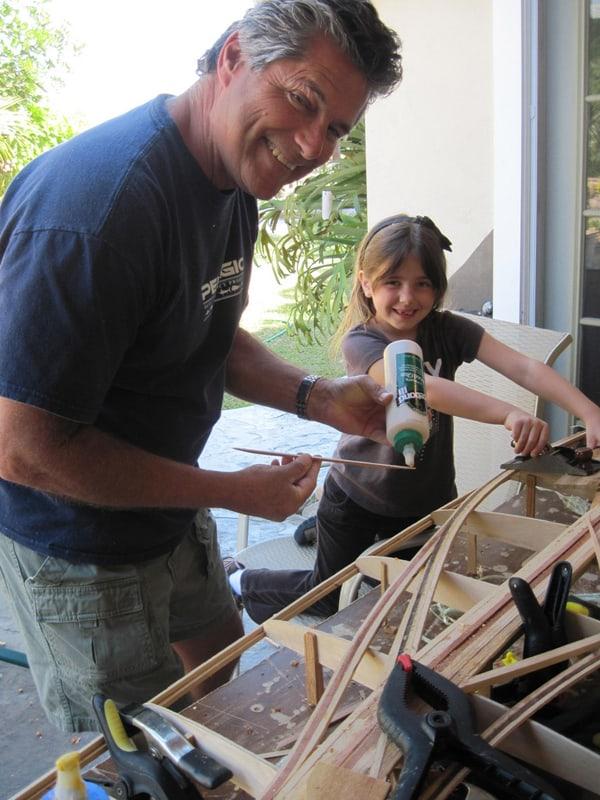 Michael Rumsey Art with Grandkids Build