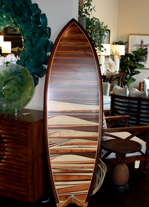 tommy bahama wood surfboards